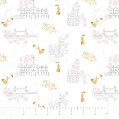 Mary Poppins Toile Camelot Disney Fabric