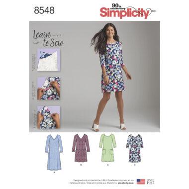 Simplicity Pattern 8548 Women's' Knit Dress