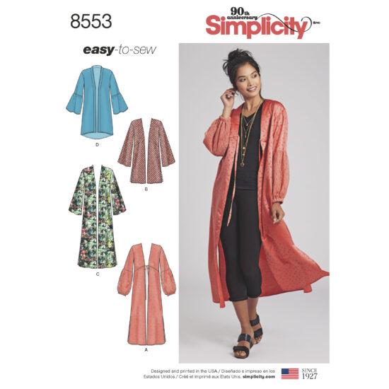Simplicity Pattern 8553 Women's' Kimonos