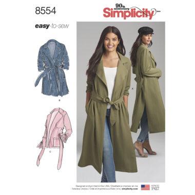 Simplicity Pattern 8554 Women's / Petite Women's  Coats and Jackets