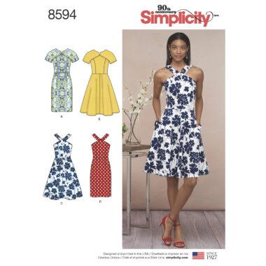 Simplicity Pattern 8594 Women's / Petite Women's Dresses