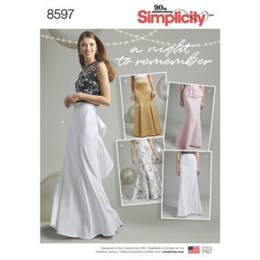 Pattern 8597 Women's Special Occasion Skirts