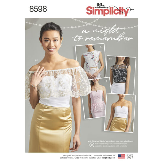 Pattern 8598 Women's Special Occasion Tops