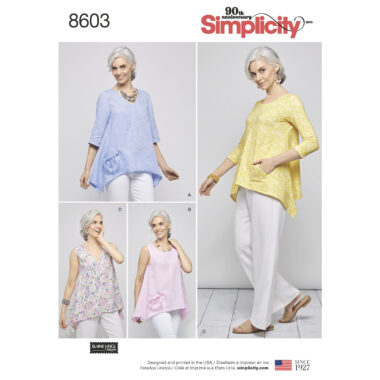 Pattern 8603 Women's Pullover Tops by Elaine Heigl