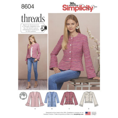 Pattern 8604 Women's / Petite Women's Jacket