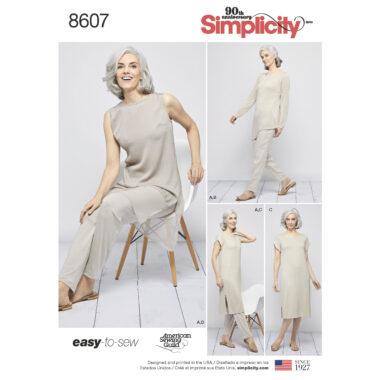 Pattern 8607  Women's Easy to Sew Sportswear