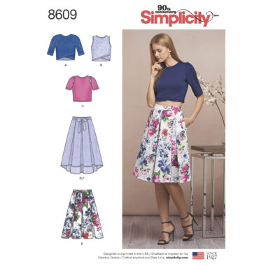 Pattern 8609 Women's Skirts and Knit Tops