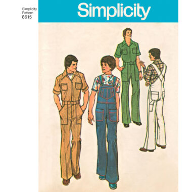 Simplicity Pattern 8615 Men's Vintage Jumpsuit and Overalls