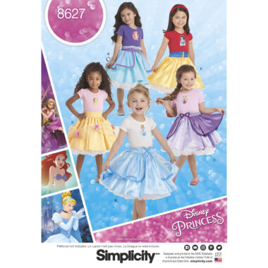 Simplicity Pattern 8627 Child's Disney Character Skirts