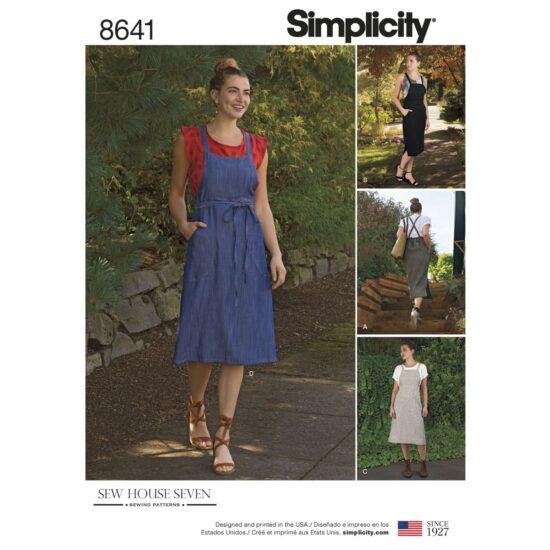 Simplicity Pattern 8641 Womens Jumper Dress