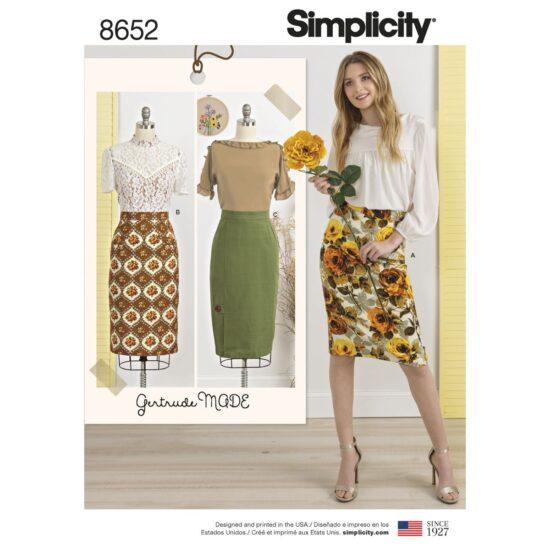 Simplicity Pattern 8652 Womens Skirts