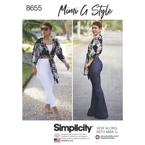 Simplicity Pattern 8655 Mimi G High Waisted Trousers and Tie Top