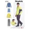 Simplicity 8705 Mens Sportswear Sewing Pattern
