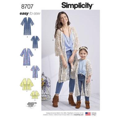 Simplicity 8707 Kimono Sewing Pattern