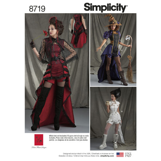 Simplicity 8719 Steampunk Costume Sewing Pattern