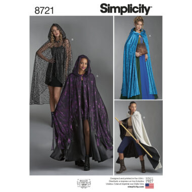 Simplicity 8721 Cape Sewing Pattern