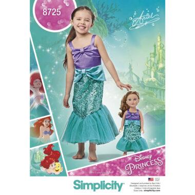 Simplicity 8725 Disneys Ariel Costume Sewing Pattern