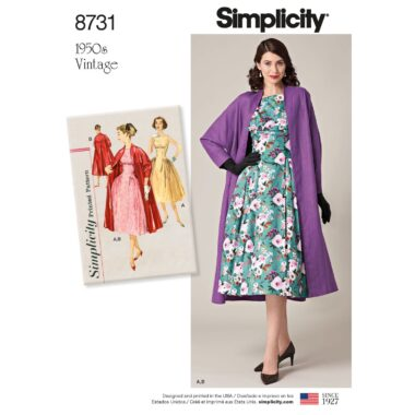 Simplicity 8731 Vintage Dress Sewing Pattern