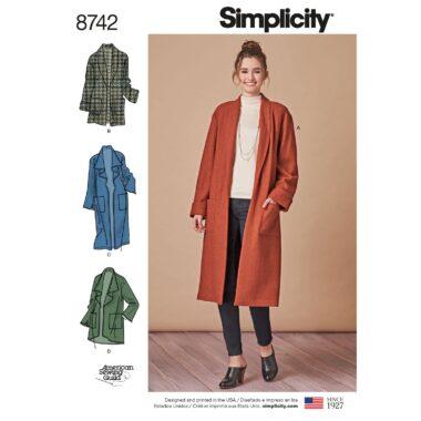 Simplicity 8742 Cardigan Sewing Pattern
