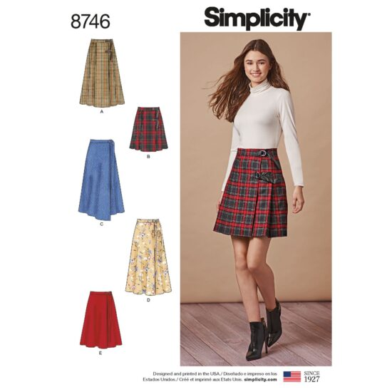 Simplicity 8746 Skirt Sewing Pattern