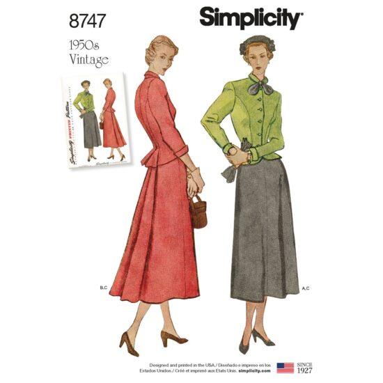 Simplicity 8747 Vintage Suit Sewing Pattern