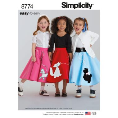 Simplicity 8774 Poodle Circle Skirt Sewing Pattern