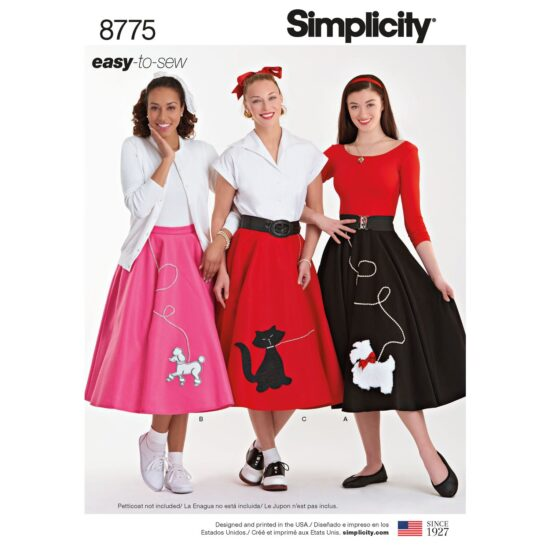 Simplicity 8775 Poodle Circle Skirt Sewing Pattern