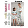 Simplicity 8801 Girls and Misses  Knit Jumpsuit Romper Sewing Pattern
