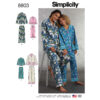 Simplicity 8803 Girls  and Misses Set of Lounge Pants and Shirt Sewing Pattern