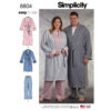 Simplicity 8804 Women's and Men's Robe and Pants Sewing Pattern