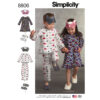Simplicity 8806 Child Dress, Top, Pants, Eye Mask and Slippers Sewing Pattern