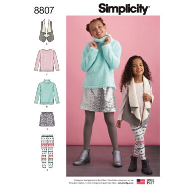 Simplicity 8807 Child and Girls  Sportswear Sewing Pattern