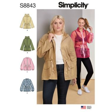 Simplicity Sewing Pattern S8843 Misses Anorak Jacket