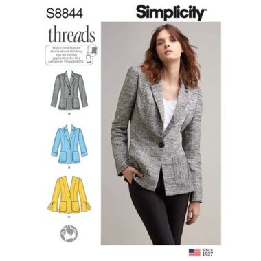 Simplicity Sewing Pattern S8844 Misses Miss Petite Unlined Blazer