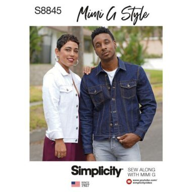 Simplicity Sewing Pattern S8845  Mens and Teens Jean Jacket