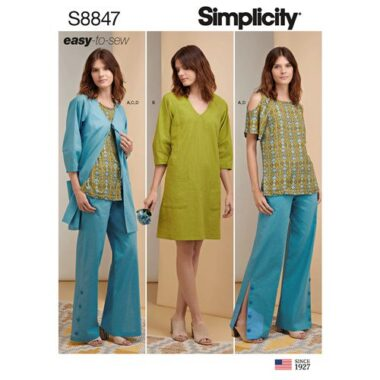Simplicity Sewing Pattern S8847 Tunic Dress or Jacket and Pants