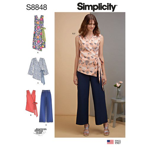 Simplicity Sewing Pattern S8848 Misses Dress Tops and Pants
