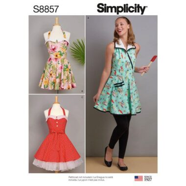 Simplicity Sewing Pattern S8857 Misses Aprons
