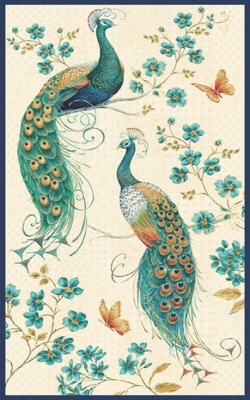 Peacock Fabric Panel Blank Quilting