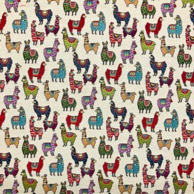 New World Little Llamas Tapestry Fabric