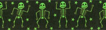 Berisfords Dancing Skelton Ribbon