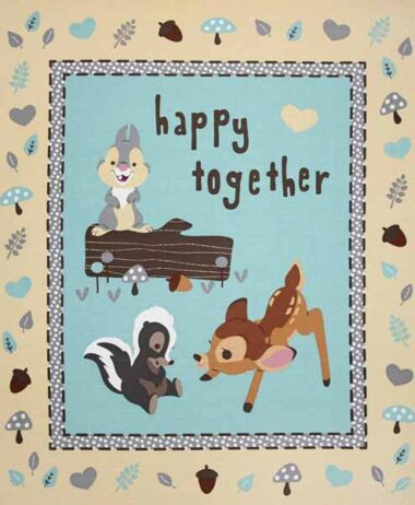 Bambi Happy Together Quilting Fabric Panel