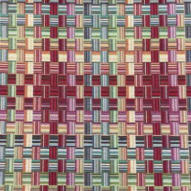 Basket Weave New World Tapestry Fabric