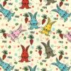 Philbert Rabbit Poly Cotton Fabric