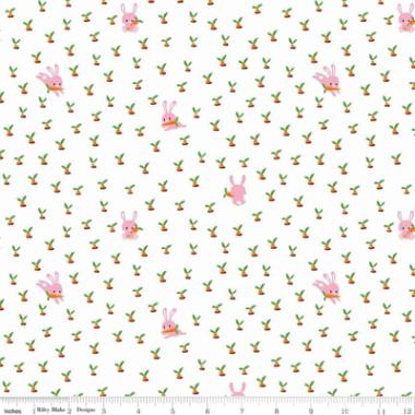Gnome Garden Bunnys Riley Blake Cotton Fabric