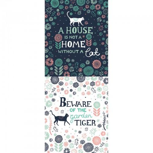 Urban Jungle Cat Panel Camelot Fabric