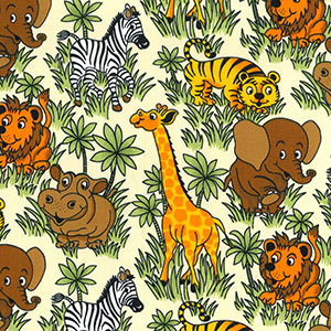 Jingle Jungle Rose and Hubble Fabric