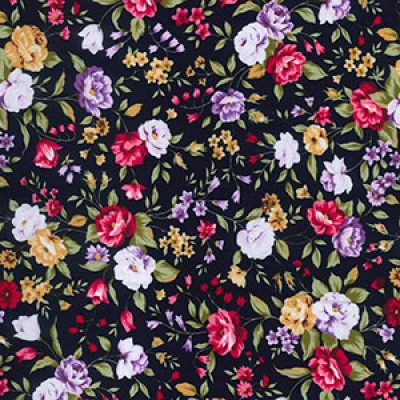 Summer Garden Rose and Hubble Cotton Fabric