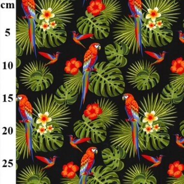 Parrot Parade Rose and Hubble Cotton Fabric