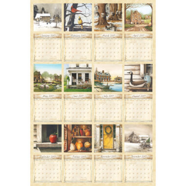 Country Living Fabric Calendar Quilting Panel